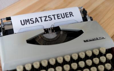 UMSATZSTEUERERMÄSSIGUNG